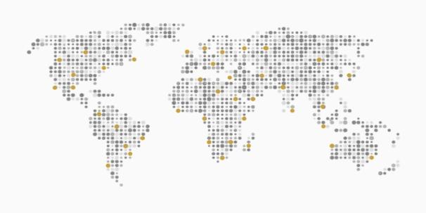 Axesa-Coloured Map of Dots Gold FINAL